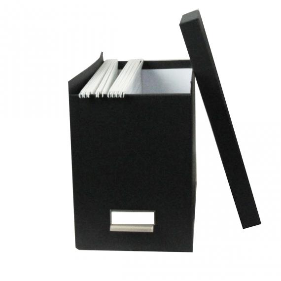 Boite A Dossiers Suspendus Avec Couvercle Gris Dossiers Suspendus Boite De Classement Rangement Papier Administratif