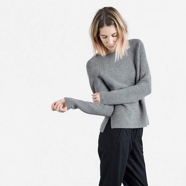 Everlane's Incredibly Soft Sweater Collection Is a Must-Shop via @WhoWhatWear