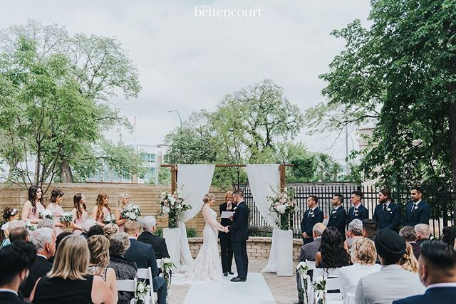 Weddings at the Manitoba Club Outdoor Wedding Ceremony