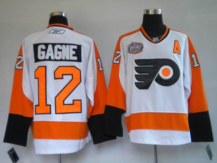 Philadelphia Flyers 12 Simon GAGNE 2010 Winter Classic Jersey ... 9c7a354ab