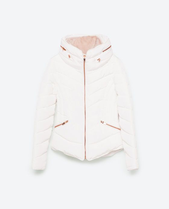 Image 8 of SHORT ANORAK WITH HIDDEN HOOD from Zara