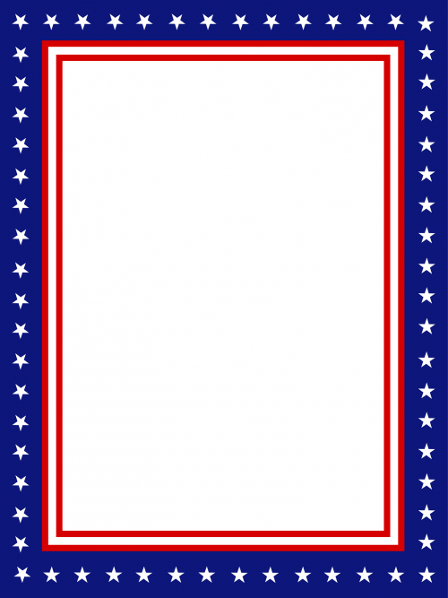 free gift with this page click usa presidential stationary border