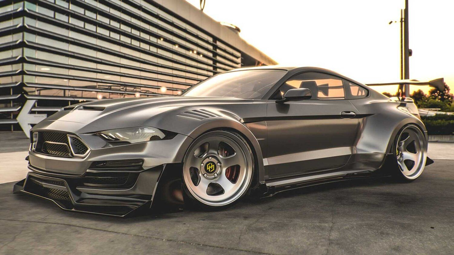 2020 Ford Mustang Shelby Super Snake Rendered With Wild Body Kit