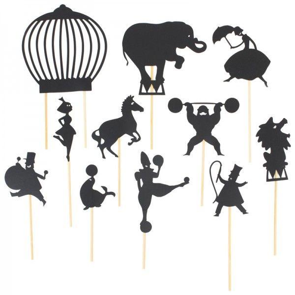 Moulin roty circus shadow puppets diy crafts pinterest zirkus marionette und scherenschnitt - Schattentheater selber machen ...