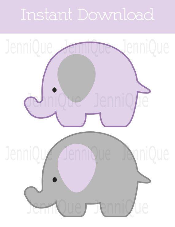 Decoraci n de elefante para imprimir elefante beb ducha - Fotos de elefantes bebes ...