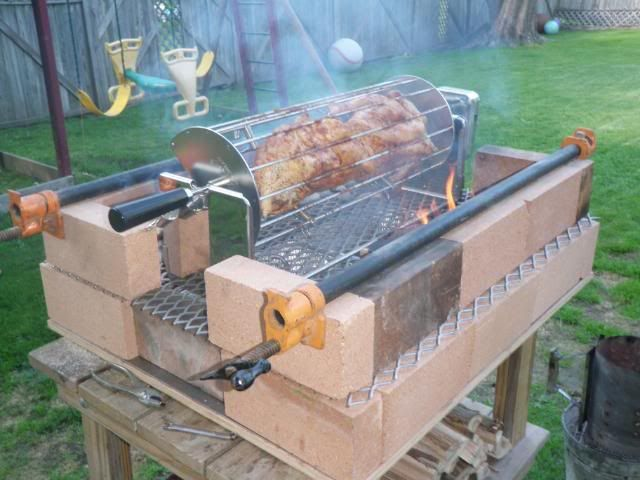 portable fire brick grill the next useless project the bbq brethren forums. Black Bedroom Furniture Sets. Home Design Ideas