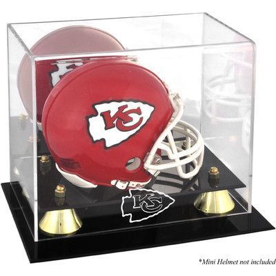Mounted Memories NFL Classic Logo Mini Helmet Display Case NFL Team: Kansas City Chiefs