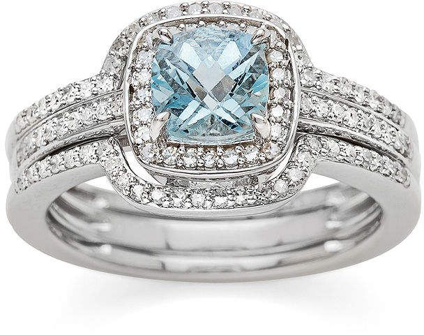 FT-Ring Aquamarine 925 Sterling silver Ring For Women Wedding Engagement Bridal rings Jewelry Rings