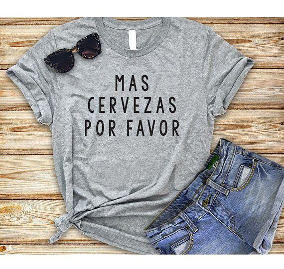 Cinco De Mayo Tshirts - Funny Cinco De Mayo Shirts. Mas Cervezas Por Favor. Unisex Mens and Womens Holiday Tshirt.
