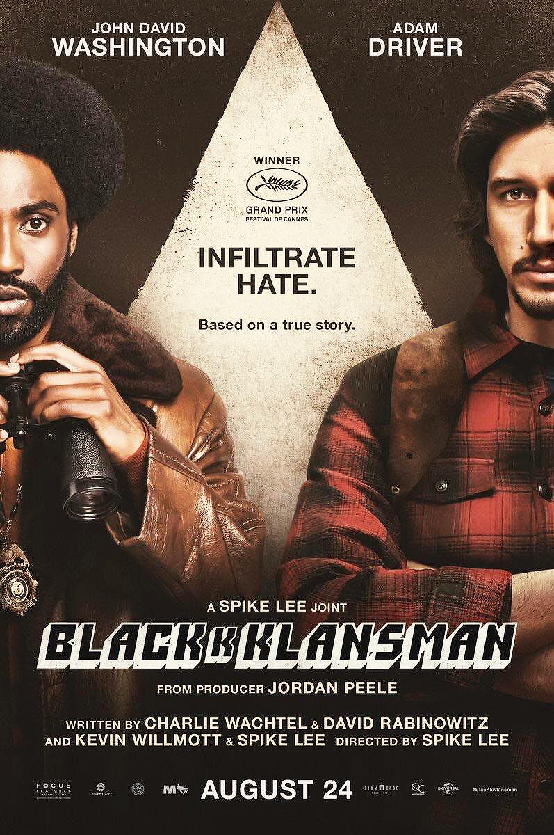 New Poster For Blackkklansman Delectable Driver In 2019