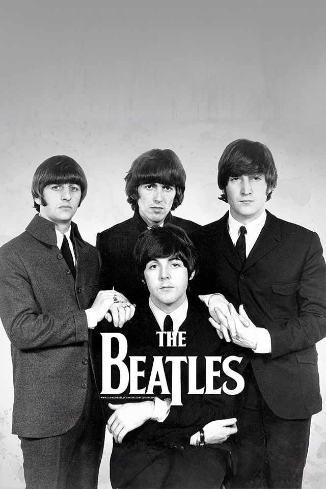 FREEIOS7 | the-beatles-posing | freeios7.com