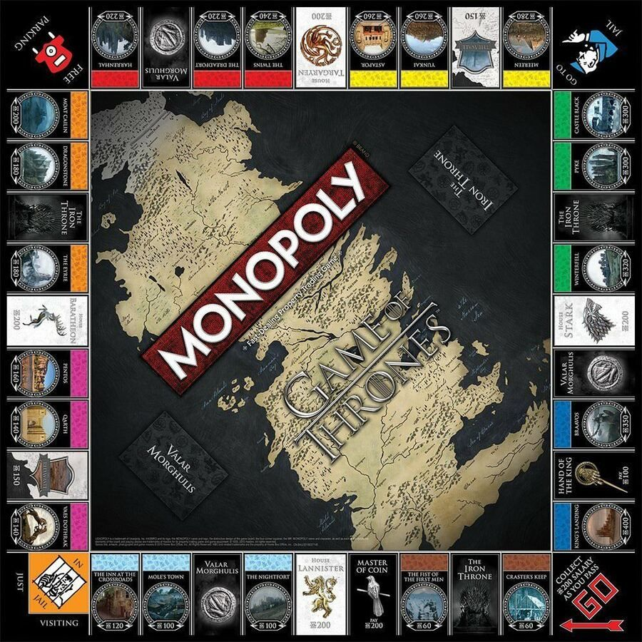 Monopoly Game Of Thrones Board Game 700304046666 Ebay Thrones Game Monopoly Monopoly Games Board Games