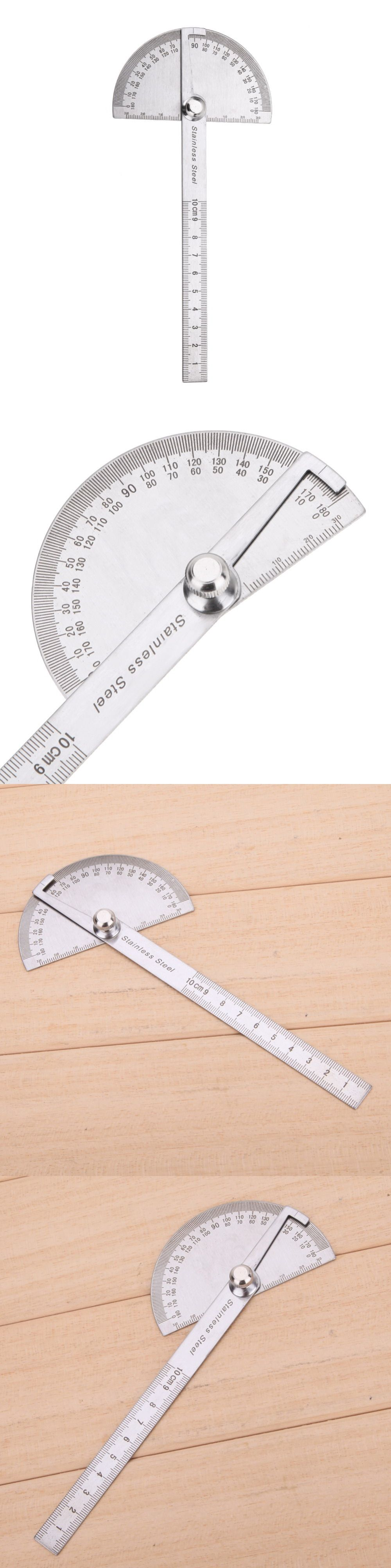 Stainless Steel 180 Degree Protractor Angle Finder Rotary Measuring Ruler For Woodworking Tools Angles