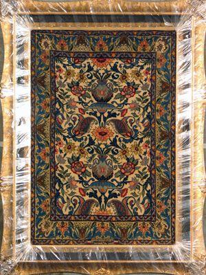 Esfahan Persian Rug, Buy Handmade Esfahan Persian Rug 2 4 x 3 3, Authentic Persian Rug $1,360.00