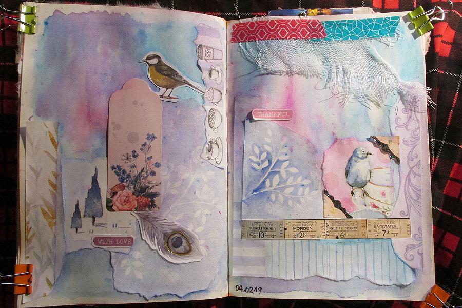art journal 3 et 4 février  art art journal collage