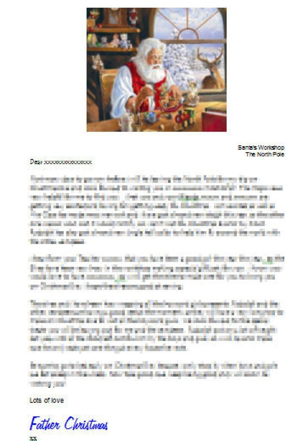 Editable Personalised Letter From Santa Studio And Word Doc Format