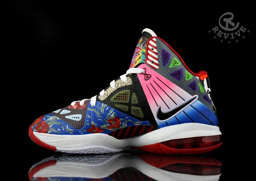 "reputable site b29d1 cbdeb Nike LeBron 8 P.S. ""Rammellzee"" by Revive Customs"