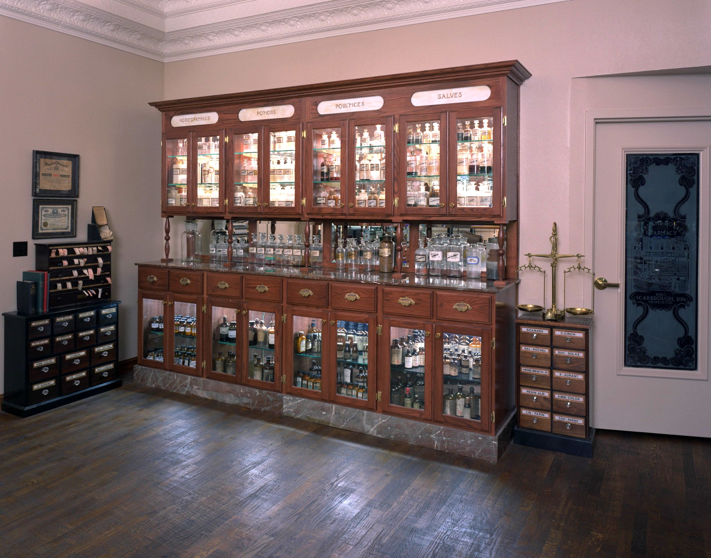 Antique apothecarypharmacy museum with images