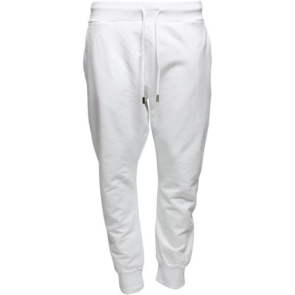 huge discount 58461 e654f men s white sweat pant at DuckDuckGo ❤ liked on Polyvore featuring men s  fashion, men s clothing