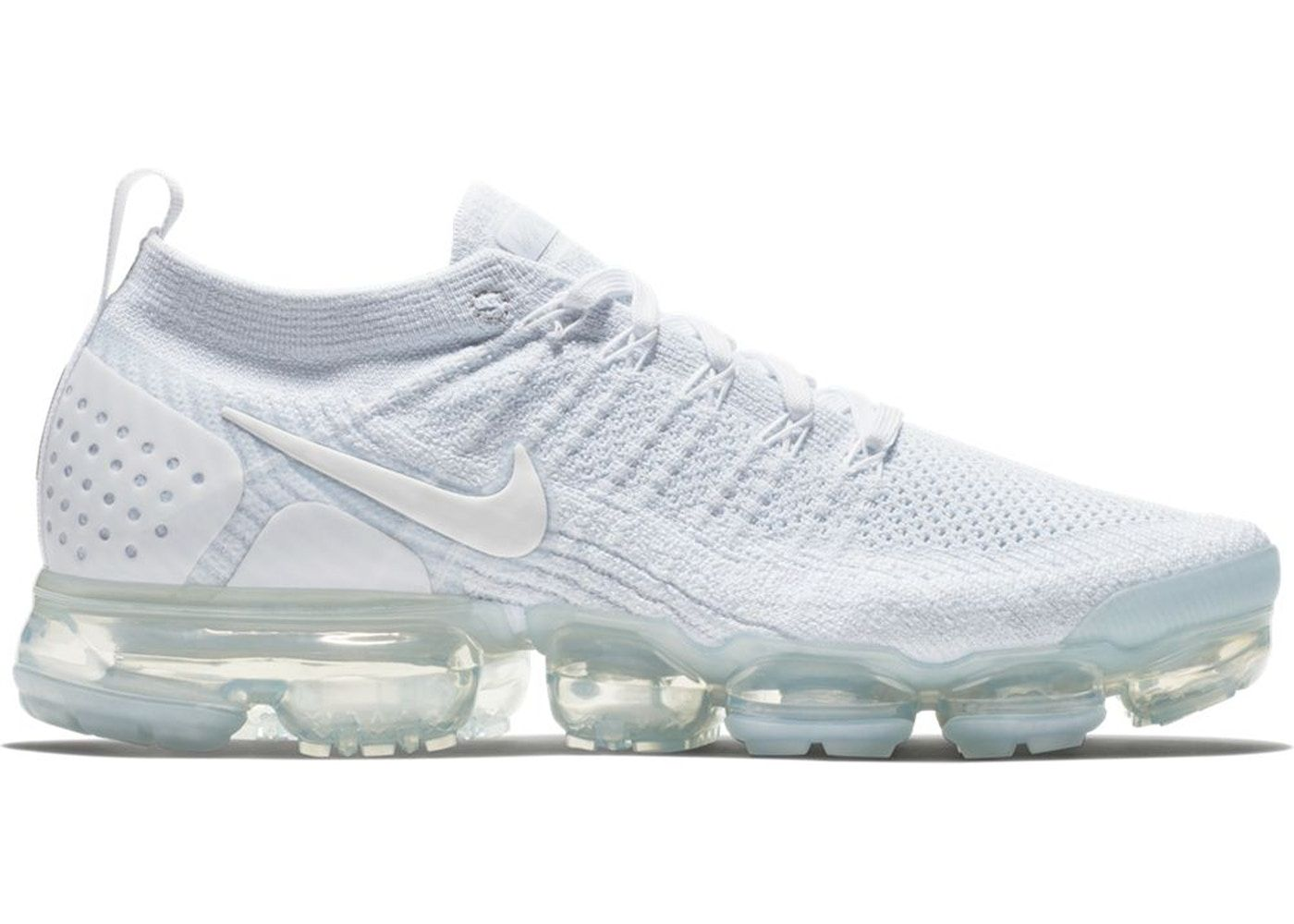 Nike VaporMax Flyknit 2 White Pure Platinum in 2019 | Shoes