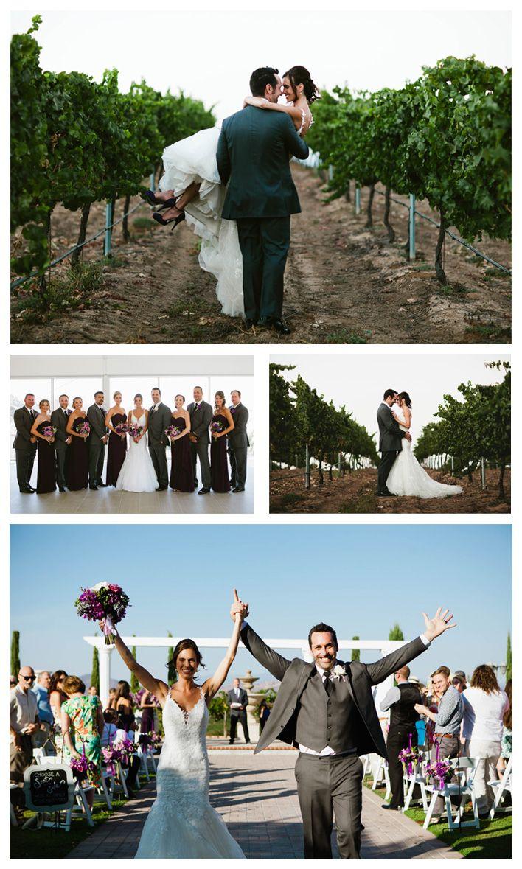 Wedding photos from a real summer vineyard wedding at mount palomar