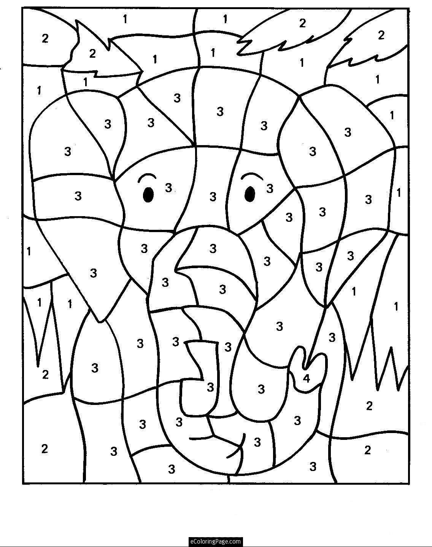 dibujos con numeros para colorear | Juegos de niños impresos