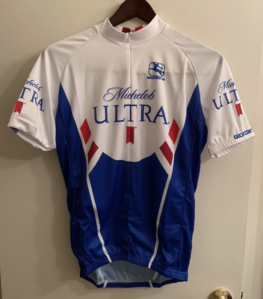 a948a62a2 ☀NEW☀Michelob Ultra Giordana Pro Jersey Cycling Jersey ITALY Sz M 3 4 Zip