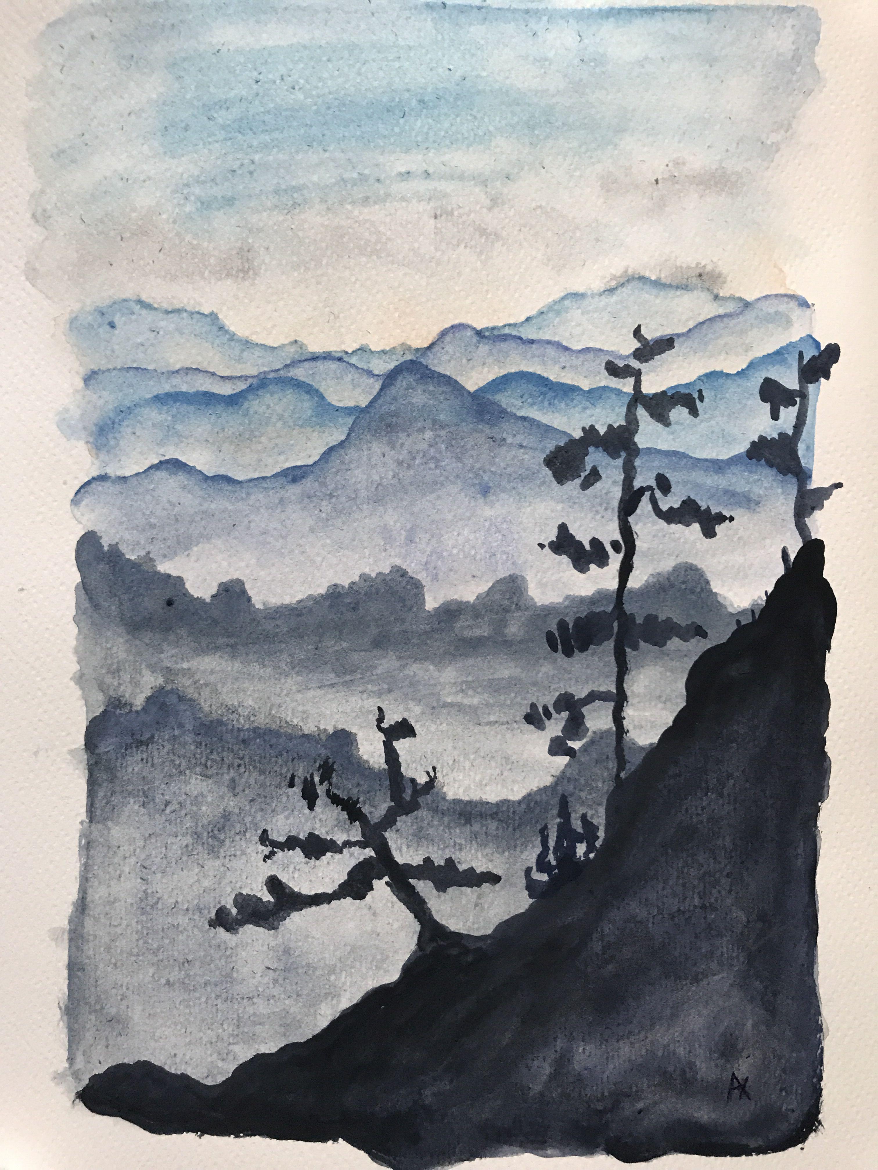 Watercolor Aquarellbilder Natur Zeichnen Aquarell