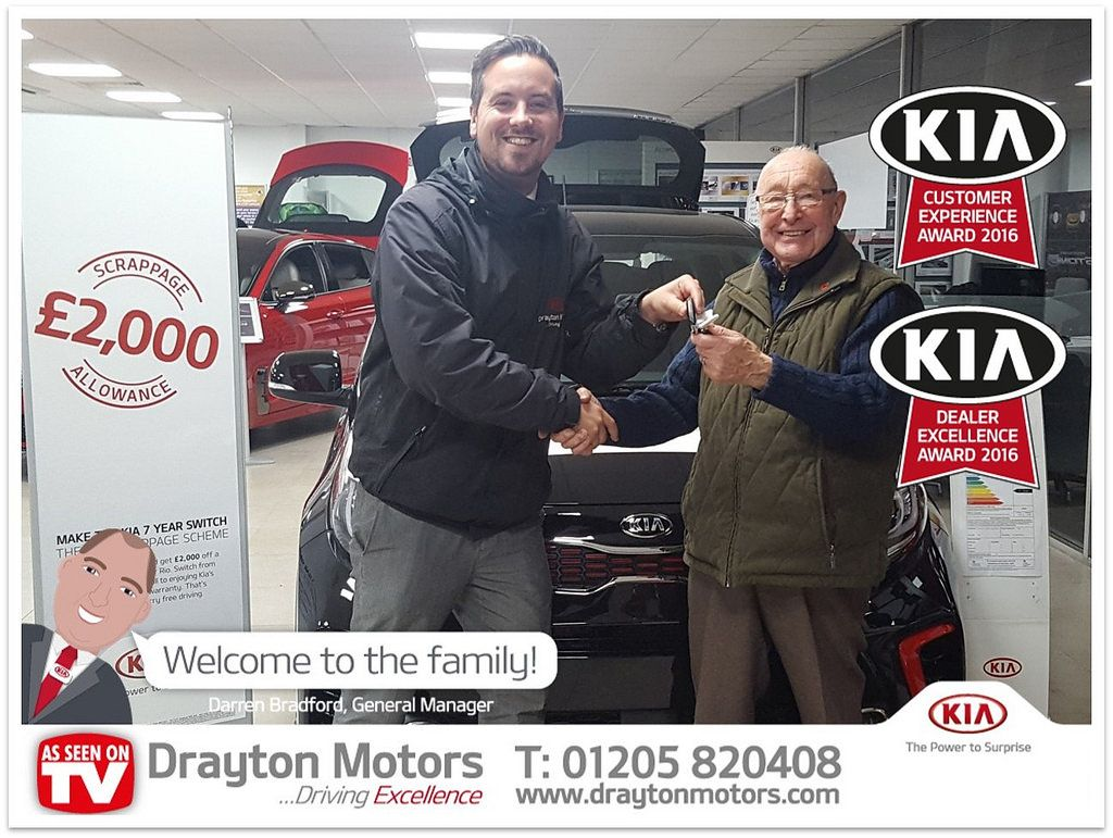 Here we have Mr Wright collecting his new KIA Picanto from