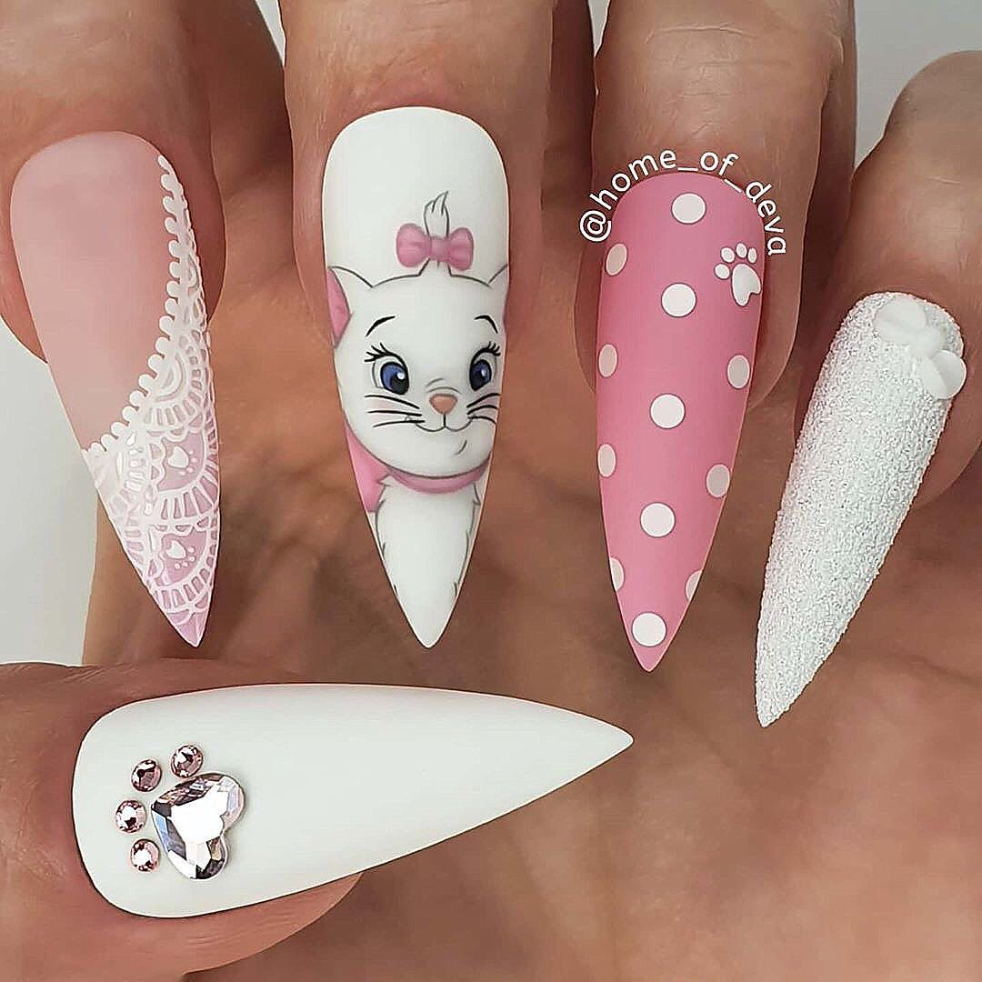 "💋 Perfect Nails 🌎 on Instagram: ""✨✨🌟✨✨ Gorgeous! Love this!  Nail Artist: @home_of_deva ✔️🌟🌟🌟 💝 Follow her for more gorgeous nail art designs! ❤️More inspiration? Tap on…"""