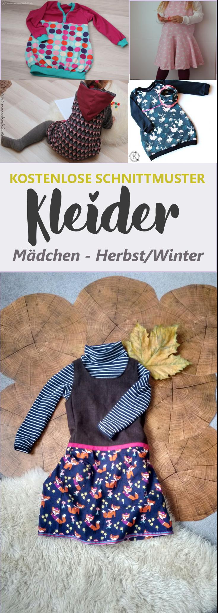 Schnittmuster Kleid Mädchen kostenlos | Herbst/Winter • eager self #freebookschnittmuster