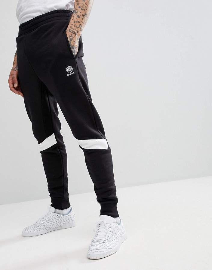 94b0bd1ef38c Reebok Sweatpants In Slim Fit In Black CD7464 in 2019