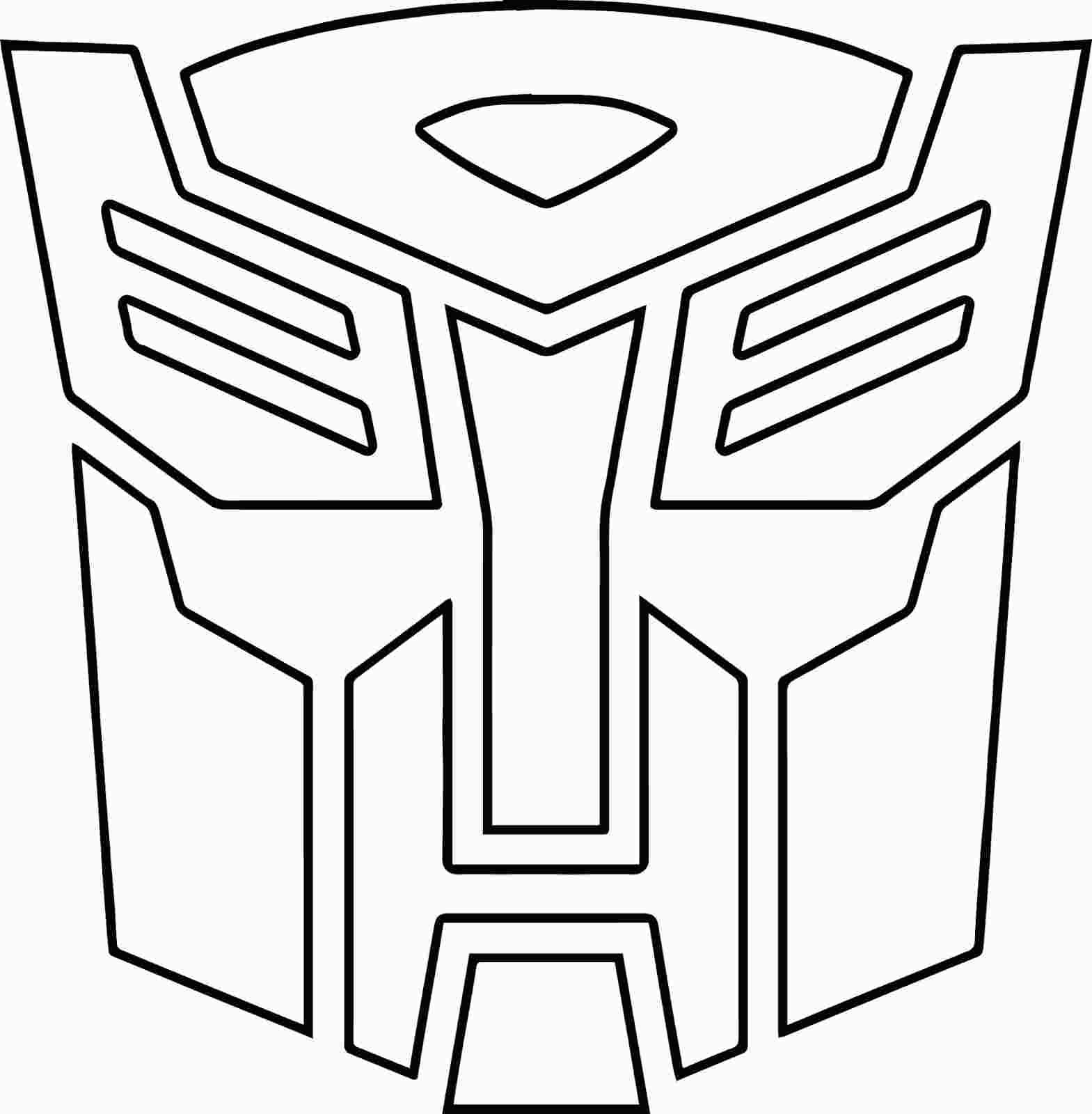 Transformers Logo Coloring Pages Transformers Birthday Parties