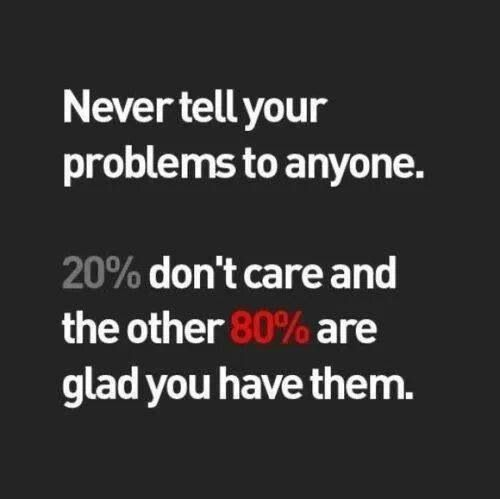 Thats Why I Try To Keep My Problems To Myself Quotes Quotes