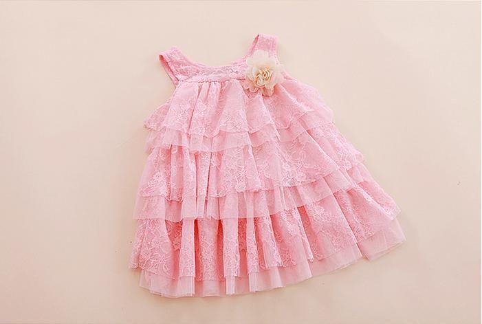 Infantil bebê meninas rendas vestidos crianças roupas para o outono verão crianças princesa flor vestido tutu vestido bolo de 4 cores rosa em Vestidos de Mamãe e Bebê no AliExpress.com | Alibaba Group