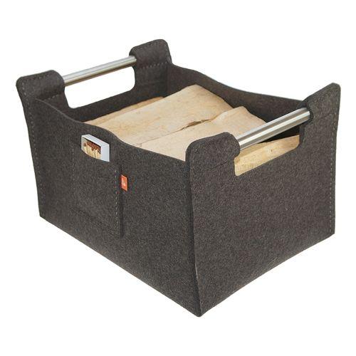 ebos designer korb f r kaminholz jede menge platz finden. Black Bedroom Furniture Sets. Home Design Ideas