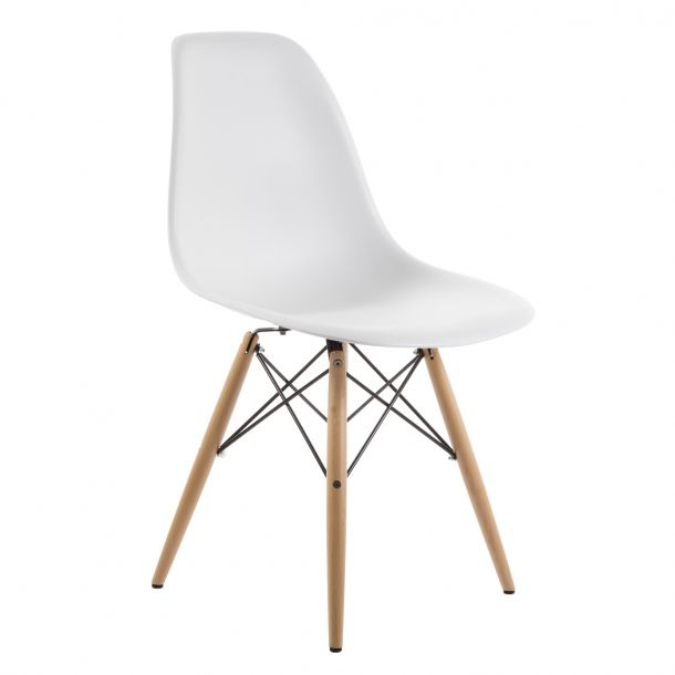 Eiffel Chair Natural Black Base White Top Eiffel Chair Black