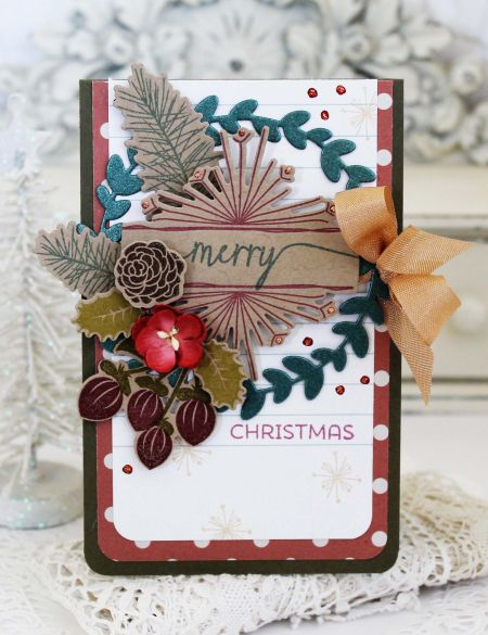 Merry Christmas Card by Melissa Phillips for Papertrey Ink (September 2016)