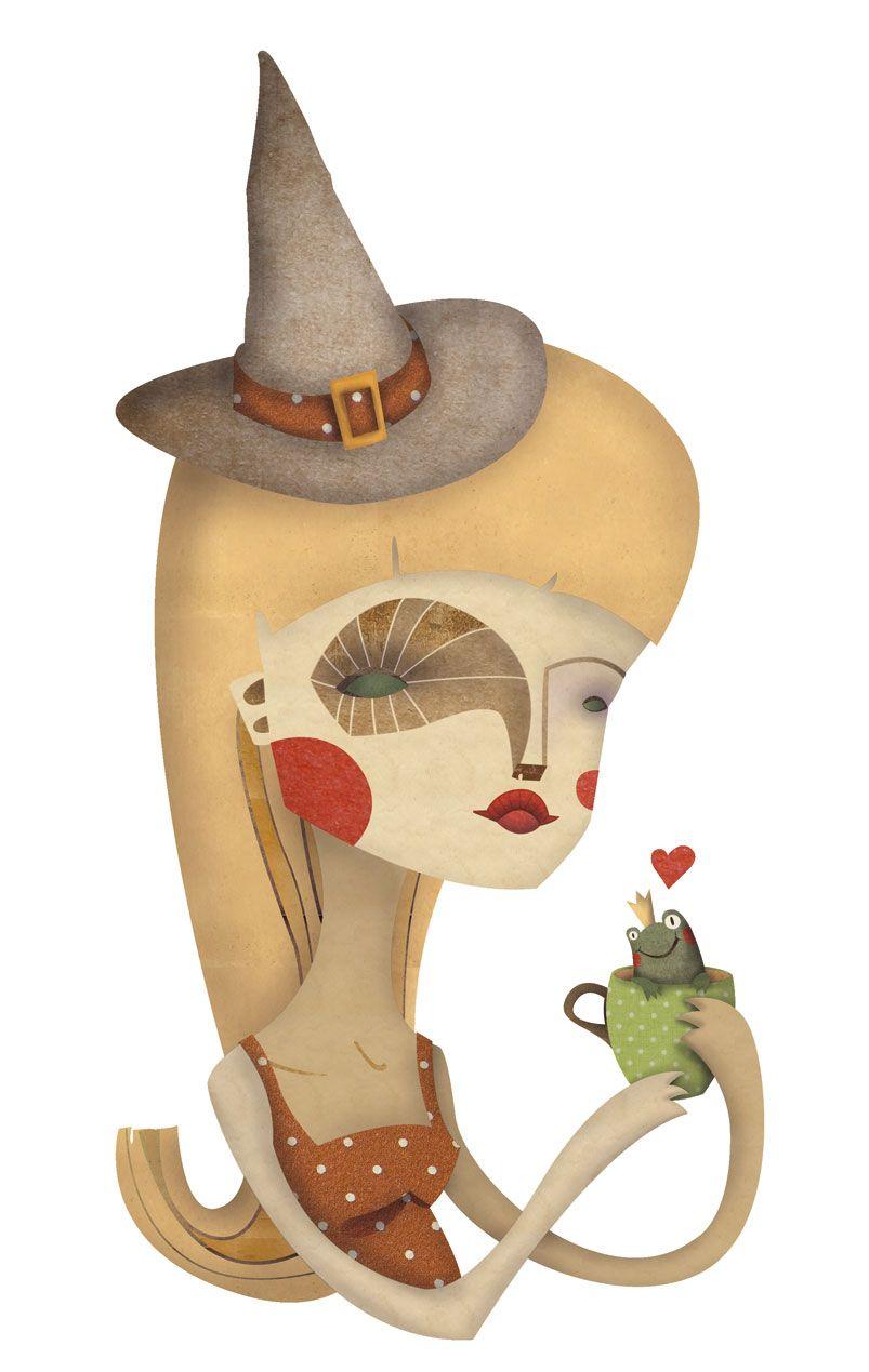 The Witch\'s coffee Bruja tomando cafe con regusto amargo de principe ...