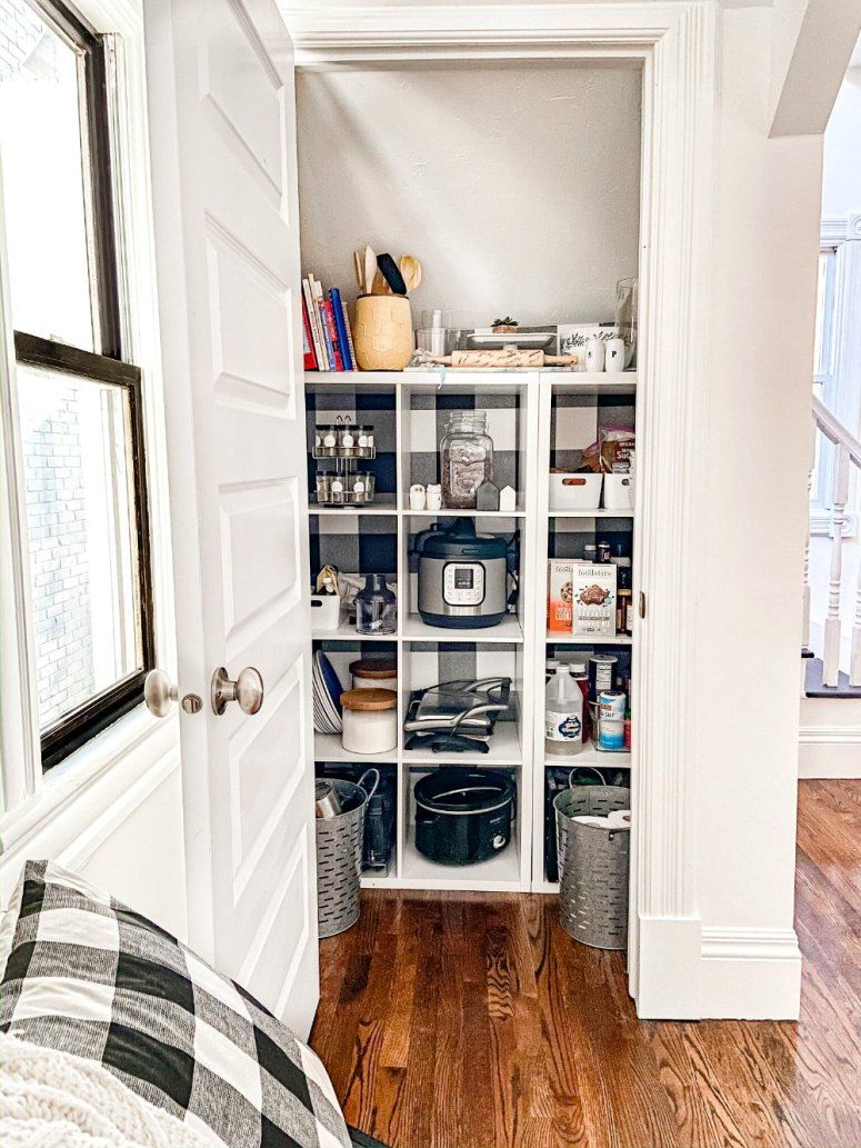 Turn a Closet into a Pantry in One Hour plus 21 Organizing