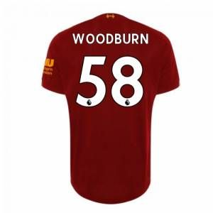 "New Balance 2019-2020 Liverpool Home Football Shirt (Woodburn 58) - Kids - Red - male - Size: SB 26-27\\"" Chest (122cm) 6-7yr"