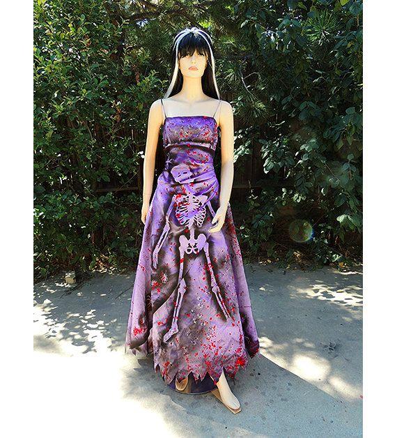 Deluxe Zombie Prom Queen Gown Costume   Zombie prom queen, Zombie ...