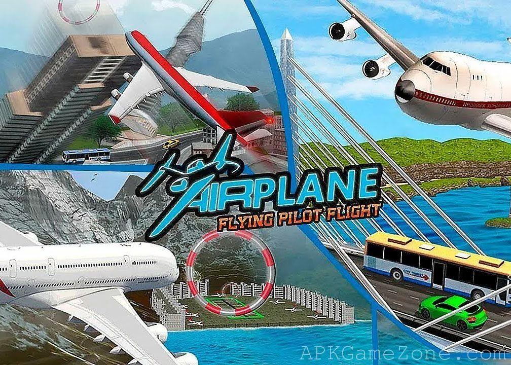 Airplane Flying Pilot Flight Plane Drive 2018 Money Mod