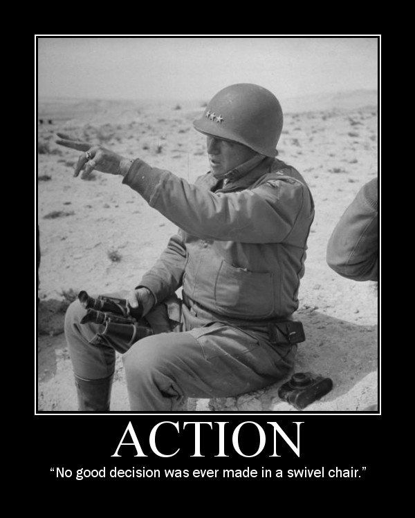 swivel chair quotes lazy boy lift chairs for sale george s patton motivational posters manly stuff edition general