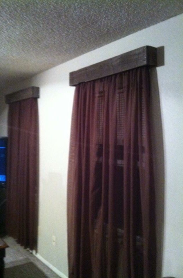 Diy Cheap Curtain Rod Covers Made From Pallets Pallets