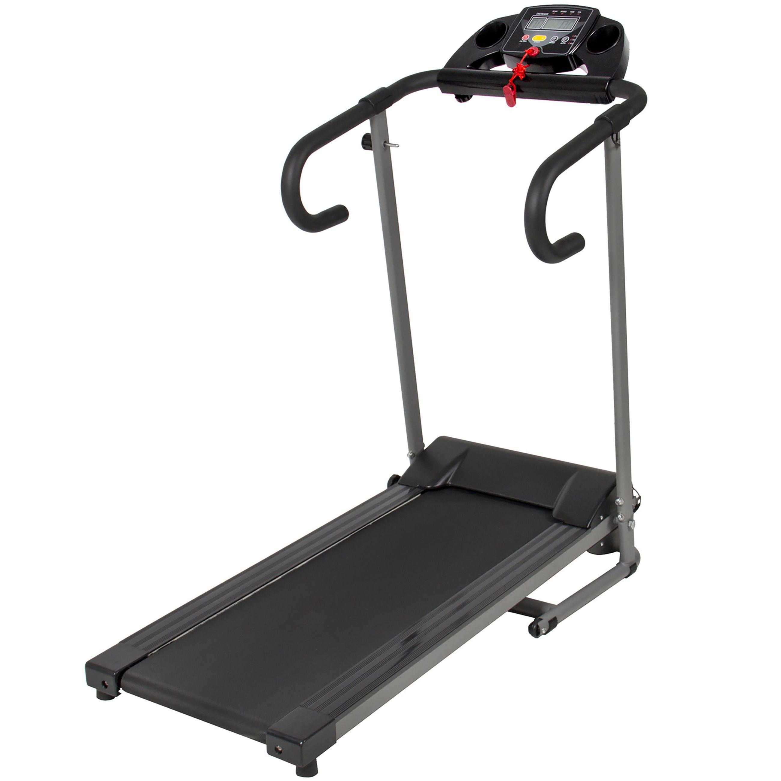 1100w Folding Electric Treadmill Portable Motorized Running Fitness Machine Bk Deal