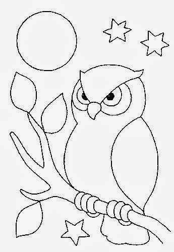 Owl coloring pages image by Guillermina Velazquez on Quilt