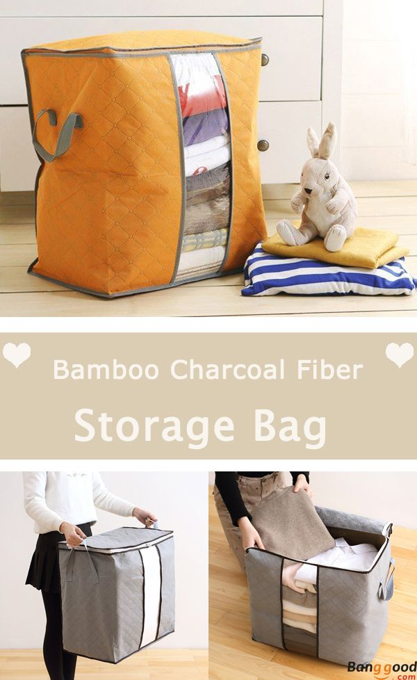 High Capacity Clothes Quilts Storage Bags Folding Organizer Bags Bamboo Portable Storage Container Housekeeping Organization From Home And Garden On Banggood Quilt Storage Bag Storage Storage