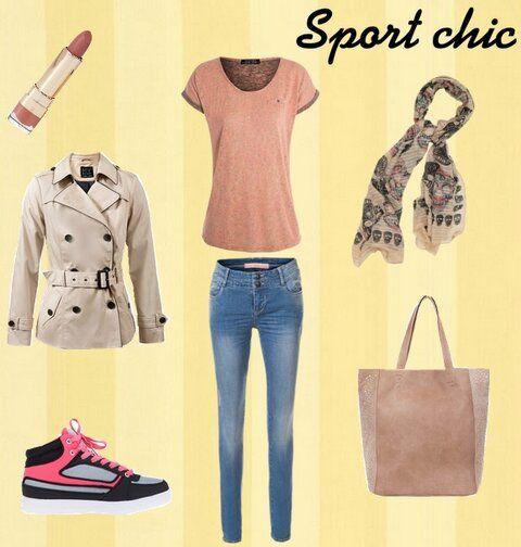 Sport Chic de Cache Cache. Imprescindible para una primavera de tiempo cambiante