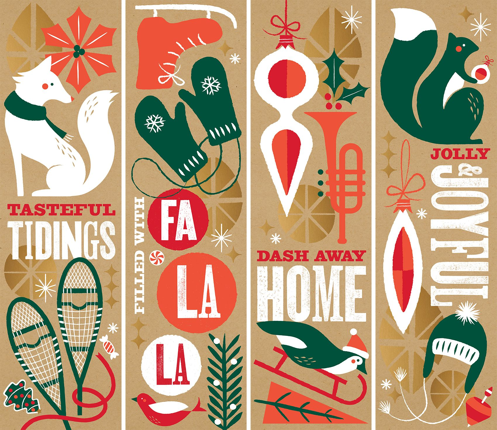 Panera 2013 Holiday By Willoughby Design Christmas Graphic Design Holiday Illustrations Christmas Graphics